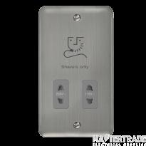 Click DPSS100GY Shaver Socket 115/230V