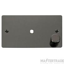 Click Define Black Nickel Single Dimmer Plate 1000W Max FPBN185