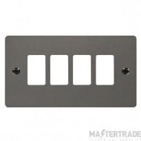 Click Define Black Nickel 4 Gang Grid Pro Front Plate FPBN20404