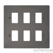 Click Define Black Nickel 6 Gang Grid Pro Front Plate FPBN20506