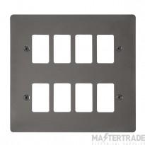 Click Define Black Nickel 8 Gang Grid Pro Front Plate FPBN20508