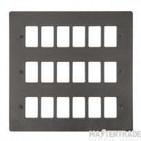 Click Define Black Nickel 18 Gang Grid Pro Front Plate FPBN20518