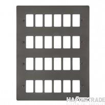 Click Define Black Nickel 24 Gang Grid Pro Front Plate FPBN20524