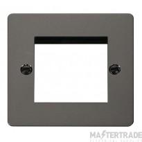 Click Define Black Nickel New Media Twin Aperture Plate FPBN311