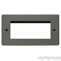 Click Define Black Nickel New Media Quad Aperture Plate FPBN312