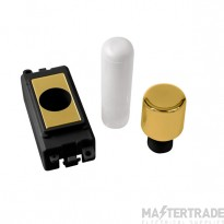 Click Grid Pro GM050BKBR 1 Mod Dimmer Mounting Kit Bk Pol/Brass