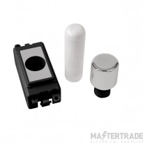 Click Grid Pro GM050BKCH 1 Mod Dimmer Mounting Kit Bk Pol/Chrome