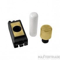 Click Grid Pro GM050BKSB 1 Mod Dimmer Mounting Kit Bk Sat/Brass