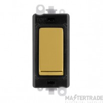 Click Grid Pro GM2001BKBR 1 Way Switch Mod Black Polished Brass