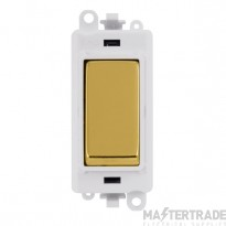 Click Grid Pro GM2001PWBR 1 Way Switch Mod White Polished Brass