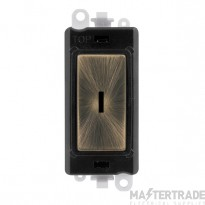 Click Grid Pro GM2003BKAB 2 Way Keyswicth Module Black Ant/Brass