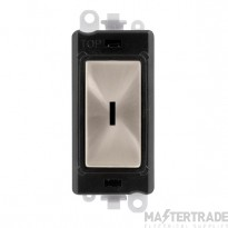 Click GridPro 20AX Switch 2 Way Key Module - Black Insert Brushed Stainless GM2003BKBS
