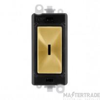 Click Grid Pro GM2003BKSB 2 Way Keyswicth Module Black Sat/Brass