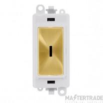 Click Grid Pro GM2003PWSB 2 Way Keyswicth Module White Sat/Brass