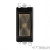 Click Grid Pro GM2008BKAB Blank Module Black Antique Brass
