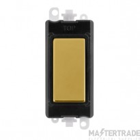 Click Grid Pro GM2008BKBR Blank Module Black Polished Brass