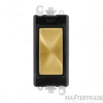 Click Grid Pro GM2008BKSB Blank Module Black Satin Brass