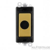Click Grid Pro GM2017BKBR 20A Flex Outlet Module Black Pol/Brass