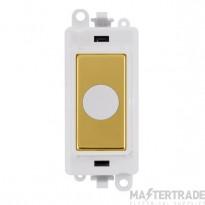 Click Grid Pro GM2017PWBR 20A Flex Outlet Module White Pol/Brass
