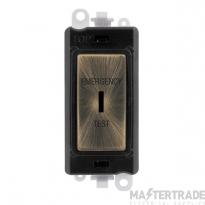 Click GridPro 20AX Switch DP Key Emergency Test Module Antique Brass GM2046BKABET
