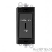 Click GridPro 20AX Switch DP Key Emergency Test Module Black Nickel GM2046BKBNET