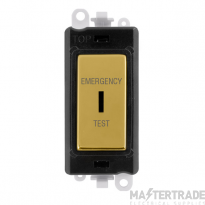 Click GridPro 20AX Switch DP Key Emergency Test Module Polished Brass GM2046BKBRET