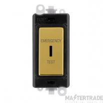 Click GridPro 20AX Switch DP Key Emergency Test Module Polished Brass GM2046BKBRET