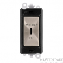 Click GridPro 20AX Switch DP Key Emergency Test Module Brushed Stainless GM2046BKBSET