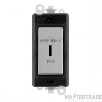Click GridPro 20AX Switch DP Key Emergency Test Module Polished Chrome GM2046BKCHET