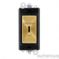 Click GridPro 20AX Switch DP Key Emergency Test Module Satin Brass GM2046BKSBET