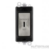 Click GridPro 20AX Switch DP Key Emergency Test Module Satin Chrome GM2046BKSCET