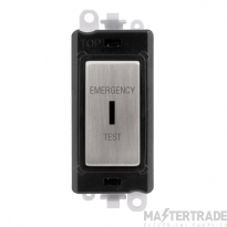 Click GridPro 20AX Switch DP Key Emergency Test Module Stainless Steel GM2046BKSSET
