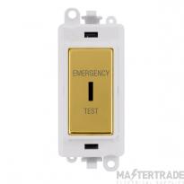 Click GridPro 20AX Switch DP Key Emergency Test Module Polished Brass GM2046PWBRET