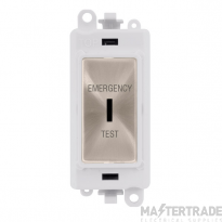Click GridPro 20AX Switch DP Key Emergency Test Module Brushed Stainless GM2046PWBSET