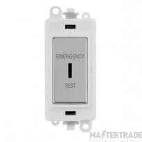 Click GridPro 20AX Switch DP Key Emergency Test Module Polished Chrome GM2046PWCHET
