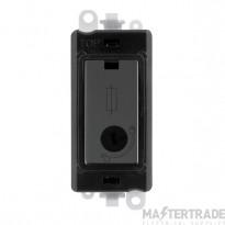 Click Grid Pro GM2047-LBKBN 13A Fused Lockable Mod Bk B/Nickel