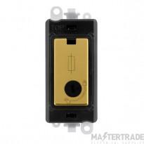 Click Grid Pro GM2047-LBKBR 13A Fused Lockable Mod Bk Pol/Brass