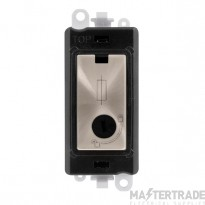 Click GridPro 13A Fused Module Lockable - Black Insert Brushed Stainless GM2047-LBKBS