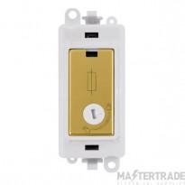 Click Grid Pro GM2047-LPWBR 13A Fused Lockable Mod Wh Pol/Brass