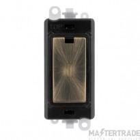 Click Grid Pro GM2047BKAB 13A Fused Module Black Antique Brass
