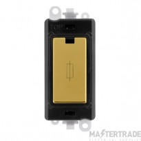 Click Grid Pro GM2047BKBR 13A Fuse Module Black Polished Brass