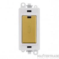 Click Grid Pro GM2047PWBR 13A Fuse Module White Polished Brass