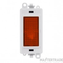 Click Grid Pro GM2081PW Amber Indicator Module White