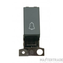 Click MiniGrid MD005BK Black 1 Way Retractive Switch Module Bell