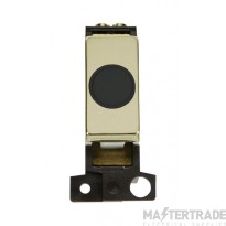 Click MiniGrid MD017BKBR Black Pol/Brass 20A Flex Outlet Module