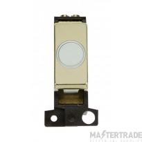Click MiniGrid MD017WHBR White Pol/Brass 20A Flex Outlet Module