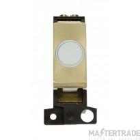 Click MiniGrid MD017WHSB White Satin Brass 20A Flex Outlet Mod