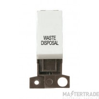 Click MiniGrid MD018WHWD White 13A DP Waste Disposal Sw Module