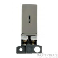 Click MiniGrid MD046BN Black Nickel Double Pole Keyswitch Module