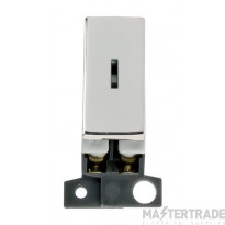 Click MiniGrid MD046CH Pol/Chrome Double Pole Keyswitch Module